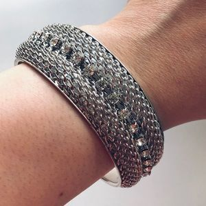 Cara Couture silver & crystal bracelet